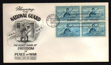 FLEETWOOD - 1953 National Guard FDC - B4 UA