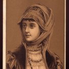 GOLD MEDAL COFFEE Victorian Trade Card - Woman in fancy dress and headscarf