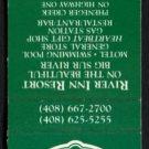 RIVER INN RESORT - Big Sur, California - 1980s Vintage Matchbook Cover