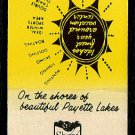 SHORE LODGE - McCall, Idaho - 1980s Vintage Matchbook Cover