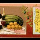 1889 Victorian Trade Card - Arbuckle Brothers Coffee Company - Map of  PORTUGAL (#68)