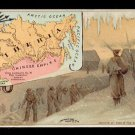 1889 Victorian Trade Card - Arbuckle Brothers Coffee Company - Map of  SIBERIA (#71)