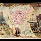 1889 Victorian Trade Card - Arbuckle Brothers Coffee Company - Map of  GERMAN EMPIRE (#72)