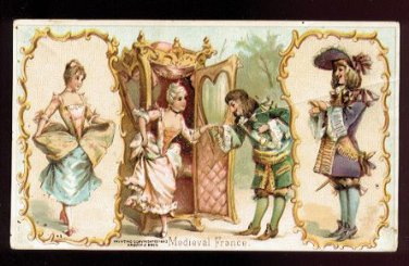 1893 Victorian Trade Card - Arbuckle Brothers Coffee Company - MEDIEVAL FRANCE (#49)