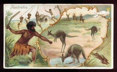 1893 Victorian Trade Card - Arbuckle Brothers Coffee Company - AUSTRALIA (#32)
