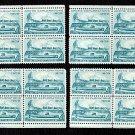 1959 Arctic Explorations (#1128) Matched Plate Blocks
