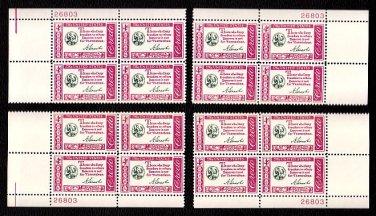 1960 Abraham Lincoln Credo (#1143) Matched Plate Blocks