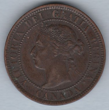 CANADA - 1901 Queen Victoria Large Cent - Circulated