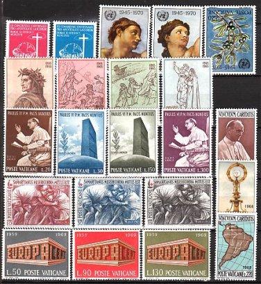 VATICAN - 40 Different MNH / Complete Sets - 1964//71