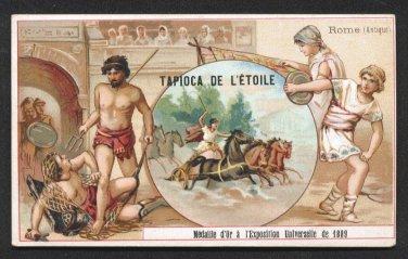 TAPIOCA DE L'ETOILE Victorian Trade Card - Ancient Rome / Rome (Antique) - Sports & Pastimes