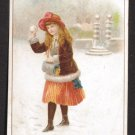 C. Beriot VTC - CHICOREE EXTRA A LA BELLE JARDINIERE - Young girl about to throw snowball, winter