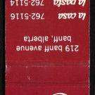 GIORGIO'S LA CASA / LA PASTA - Banff, Alberta, CANADA - Vintage Matchbook Cover