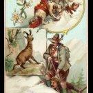 VAN LECKWYCK & CO. (Rotterdam) Victorian Trade Card - Switzerland / Suisse - Sports & Pastimes