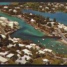 FLATT'S INLET, Bermuda - Aerial View - 1970s Unused Scenic Postcard
