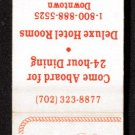 RIVERBOAT HOTEL CASINO - Reno, Nevada - 1990s Matchbook Cover