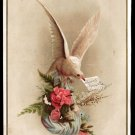 Victorian Greeting Card - WISHING YOU A BRIGHT AND HAPPY NEW YEAR - white dove
