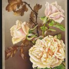 Victorian Greeting Card - MAY THY NEW YEAR LIKE LOVELY FLOWER BLOOM! - roses