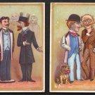 Victorian Trade Cards (2) - D. W. McKENZIE, Merchant Tailor - Ashtabula, Ohio