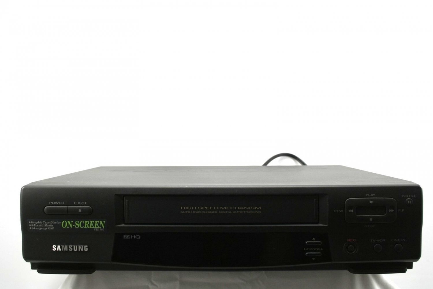 USED, VERY GOOD CONDITION! SAMSUNG VR3705 VHS VIDEO CASSETTE RECORDER PLAYER VCR