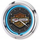 NEW! Harley-Davidson® Essential Bar & Shield Neon Clock!