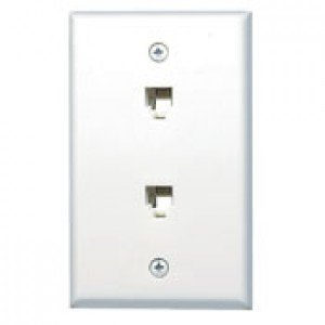 NEW OPEN PACKAGE! Leviton C0254-W White Duplex Flush Mount Wall Plate