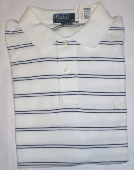 NEW RALPH LAUREN MENS CLASSIC FIT POLO SHIRT LARGE NWT WHITE FREE SHIP