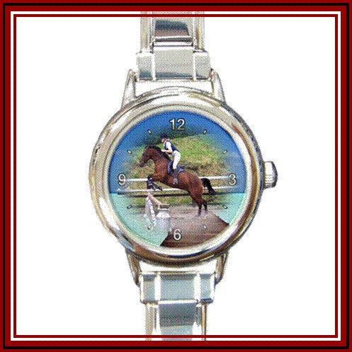 Personalised Italian Charm Watch - Round Face