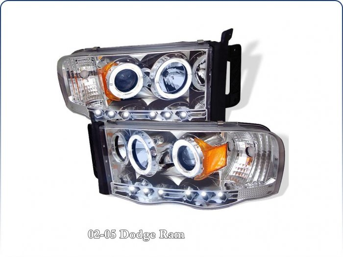 Spyder: 02-05 Dodge Ram; Projector Headlights, Chrome