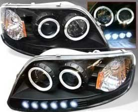 Spyder: 97-02 Ford Expedition; Projector Headlights, Black (12)