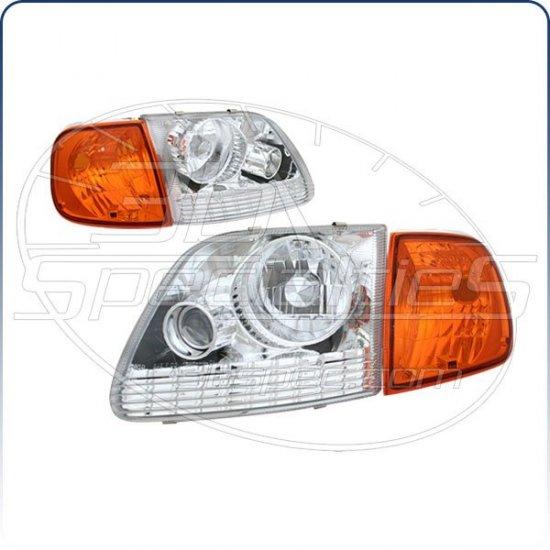 97-03 Ford F150; Euro Headlights, Chrome