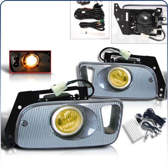 92-95 Honda Civic 2Dr / 3Dr, Fog Lights (Yellow)