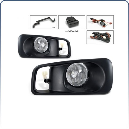 99-00 Honda Civic, Fog Lights (Clear)