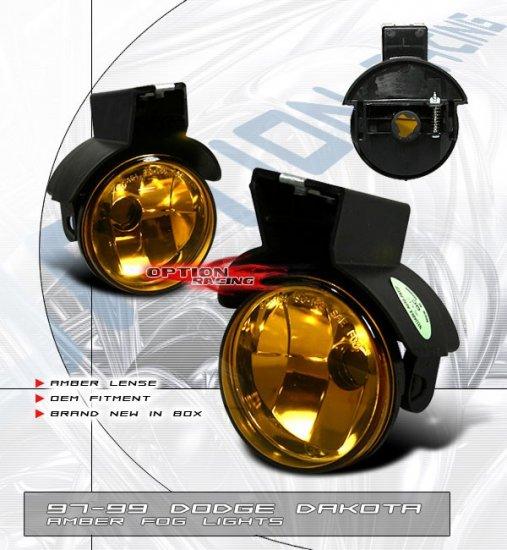 97-99 Dodge Dakota, Fog Lights (Amber)
