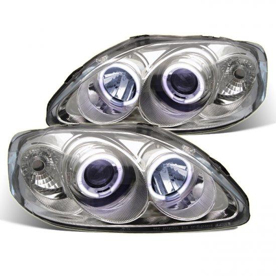 Spyder: 99-00 Honda Civic, Projector Headlights (Chrome)