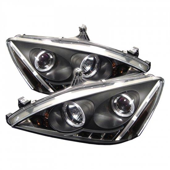 Spyder: 03-07 Honda Accord, Projector Headlights (Black)