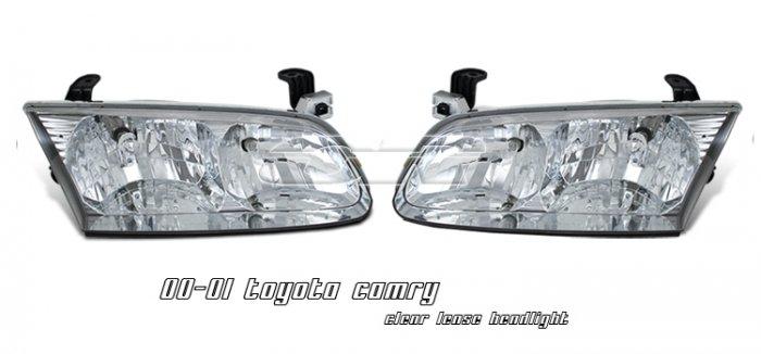 00-01 Toyota Camry Crystal Headlights (Chrome)