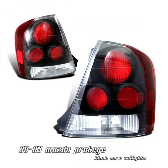 99-03 Mazda Protege, Altezza Tail Lights, Black