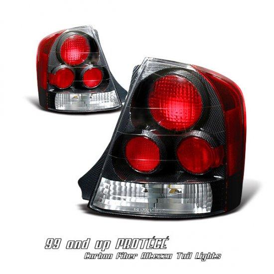 99-03 Mazda Protege, Altezza Tail Lights, Carbon Fiber