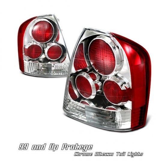 99-03 Mazda Protege, Altezza Tail Lights, Chrome