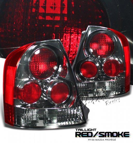 99-03 Mazda Protege, Altezza Tail Lights, Smoked
