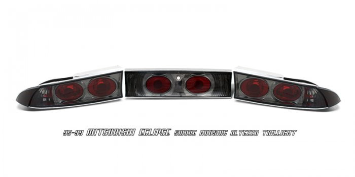 95-99 Mitsubishi Eclipse, Altezza Tail Lights, Smoked