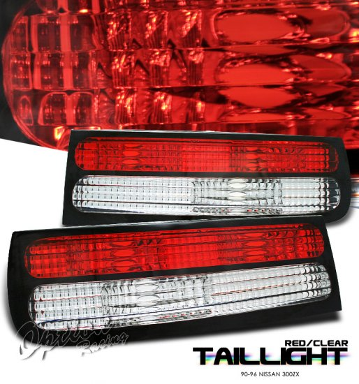 90-96 Nissan 300ZX, Euro Tail Lights, Red