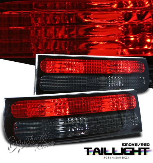 90-96 Nissan 300ZX, Euro Tail Lights, Red / Smoked