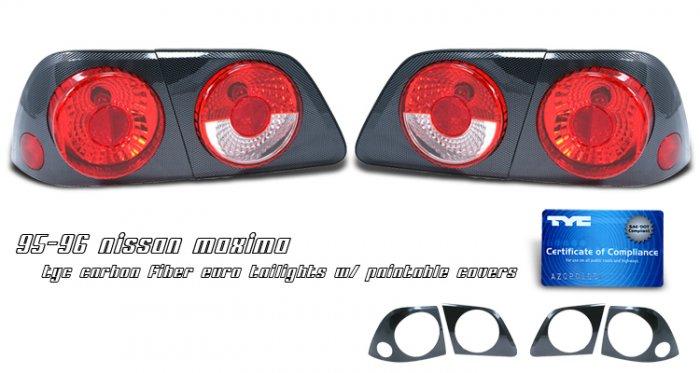 95-96 Nissan Maxima, Altezza Tail Lights, Carbon Fiber (Paintable)