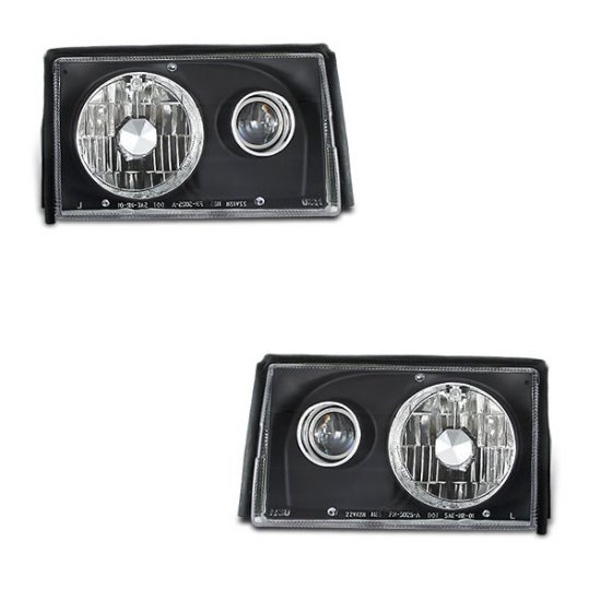 87-93 Ford Mustang, Projector Headlights, Black