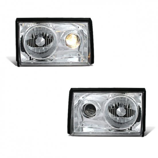 87-93 Ford Mustang, Projector Headlights, Chrome