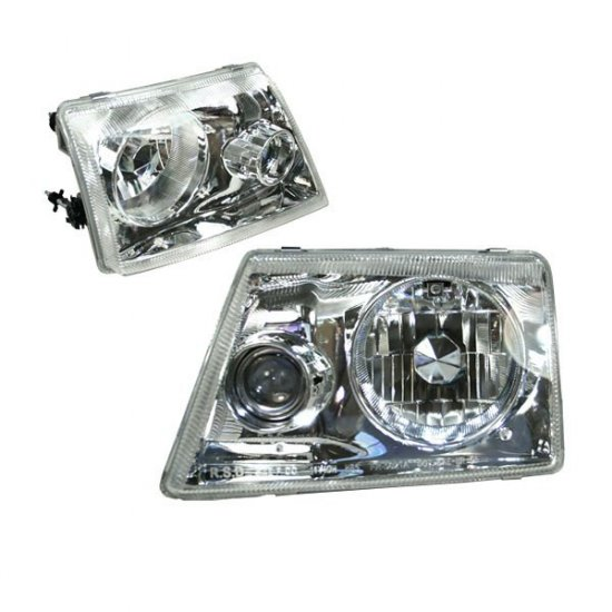 93-97 Ford Ranger, Projector Headlights, Chrome