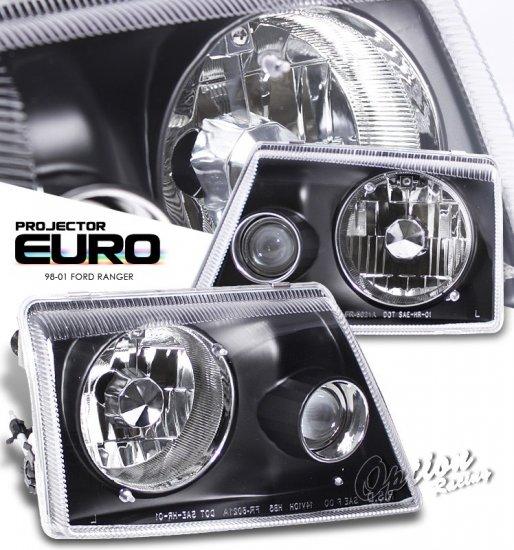 98-01 Ford Ranger, Projector Headlights, Black