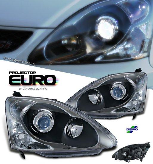 02-05 Honda Civic Si, Projector Headlights (Chrome)