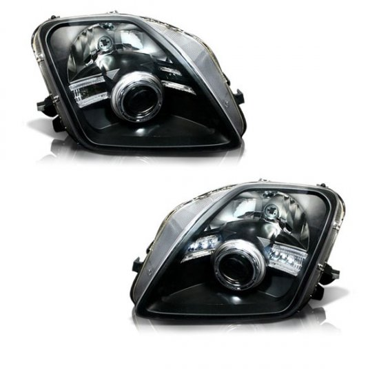 97-01 Honda Prelude, Projector Headlights (Black)